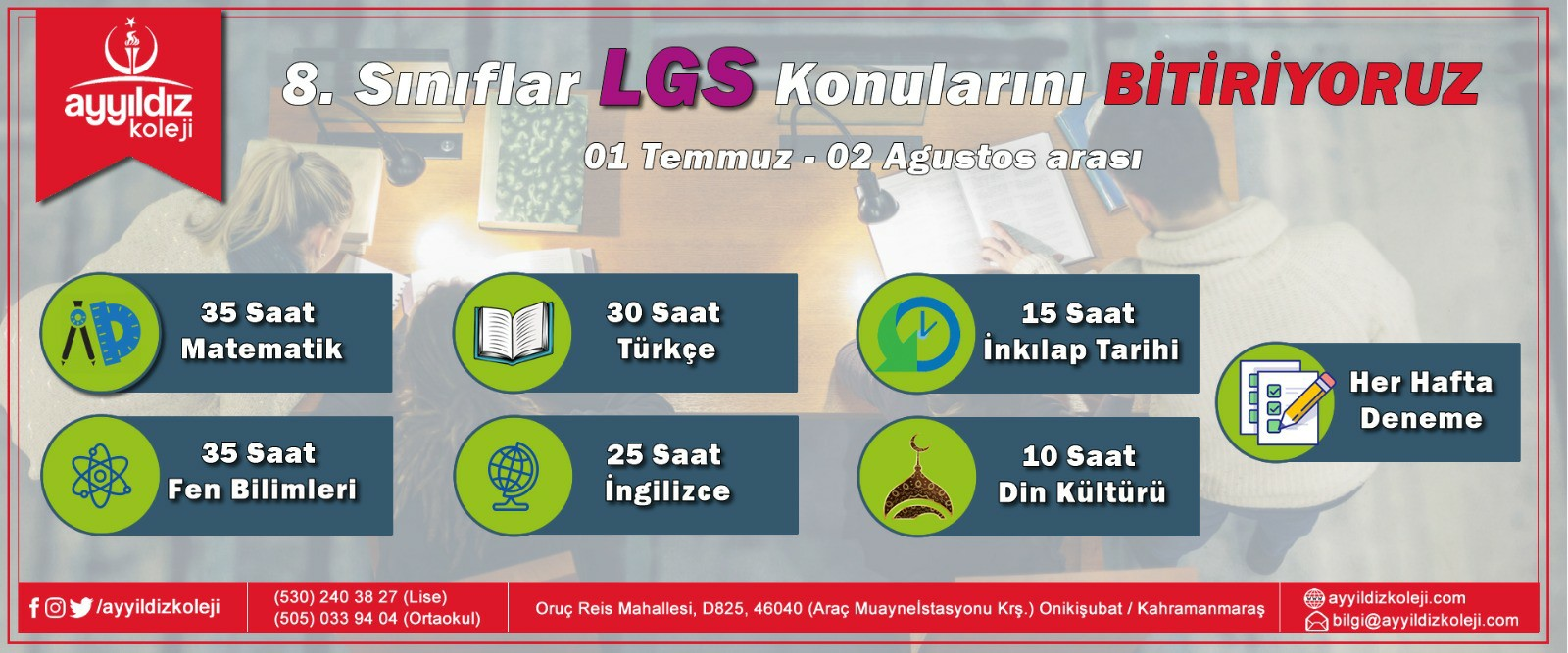 LGS KAMPI BAŞLADI